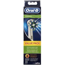 Braun Oral-B CrossAction Tandbørstehoved - 8 stk.