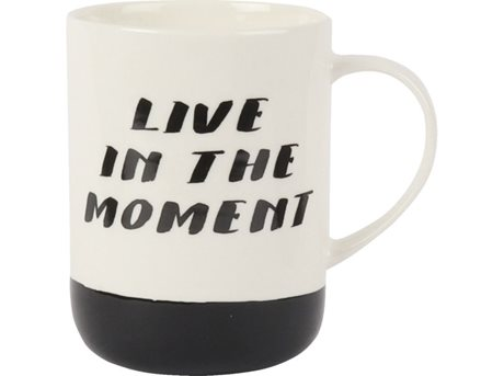 Image of   Casa Krus Live in the moment Creme, Sort 45 cl 1 stk.