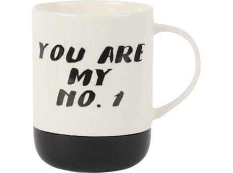 Image of   Casa Krus You are my no. 1 - 45 cl - Porcelæn - Creme