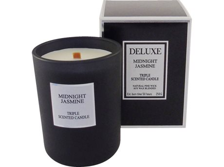 De luxe Midnight Jasmin Duftlys Sort 12,2 cm