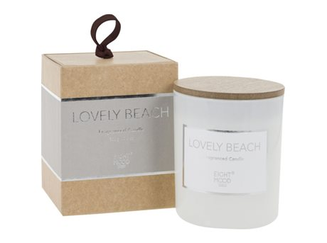 Eightmood Lovely Beach  Duftlys Beige, Hvid, Natur