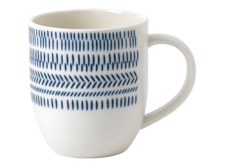 Image of   Ellen DeGeneres by Royal Doulton Cobalt Blue Chevron Krus Blue chevron 40 cl 1 stk.