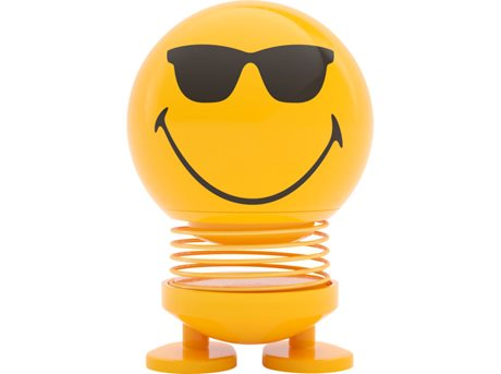 Image of   Hoptimist Figur Smiley Cool Plastik Gul