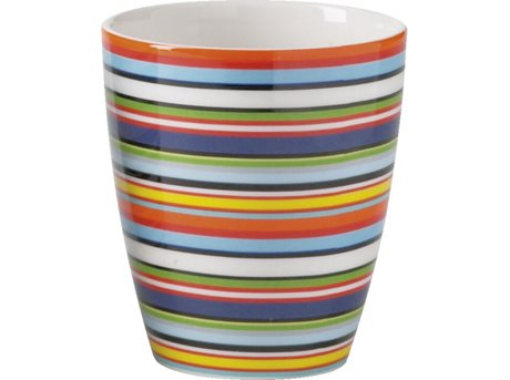 Image of   Iittala Origo Krus Orange, Stribet 25 cl 1 stk.