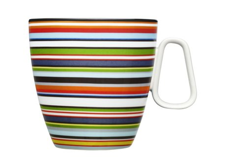 Image of   Iittala Origo Krus Orange, Stribet 40 cl 1 stk.