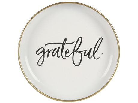 Image of   Imerco Home Grateful Platte - Ø 25 cm - Metal - Hvid/g.