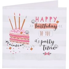 Kort Happy birthday to you it's party time