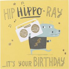 Kort - Hip hippo-ray it's your birthday