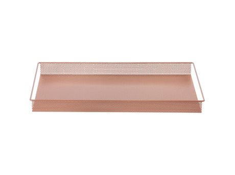 METAL TRAY - ROSE - LARGE