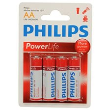 Philips PowerLife Batteri AA - 4 stk.