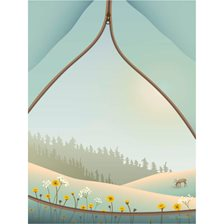 Vissevasse Plakat Tent with a View